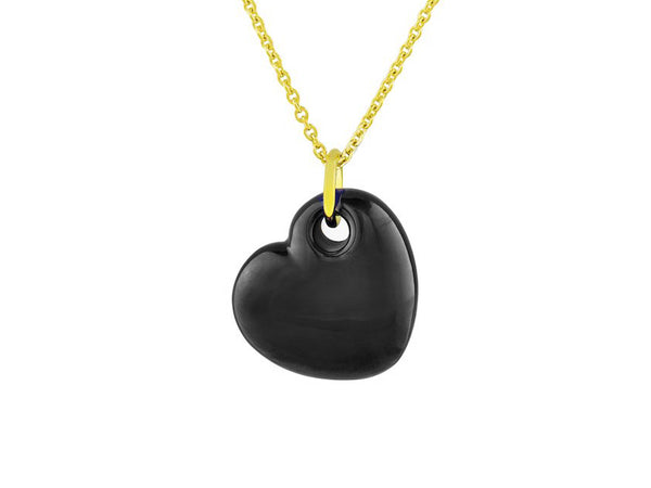 Big Enamel Heart Necklace