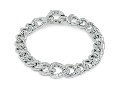 Veneto CZ Curb Links Bracelet