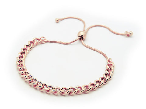 Rose Gold Adjustable Cuban Links Bracelet