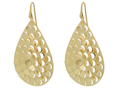 Fluttering Gold Hook Earrings