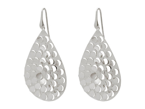 Fluttering Platinum Hook Earrings