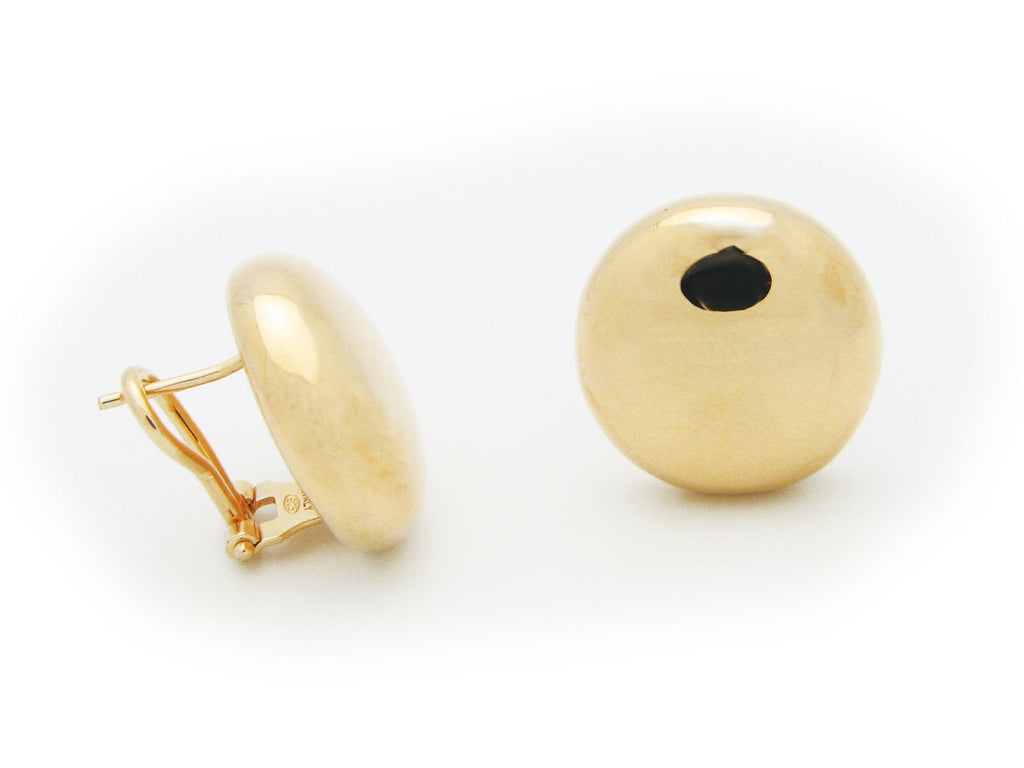 Puffed Sun Omega Clip Earrings