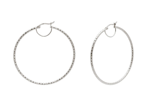 Fronay Co .925 Sterling Silver Miami Hoops Earrings