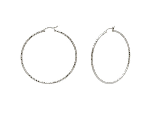 Diamante Cut Hoops (40mm)