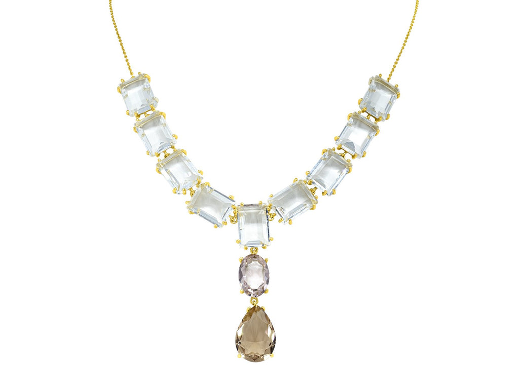 Colorado Rose Cut Crystals Necklace