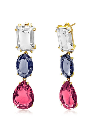 Colorado Centre Crystal Drop Earrings