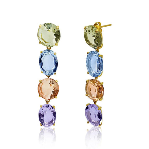 Samella Crystal Drop Earrings