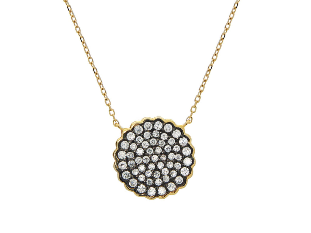 Black & Gold Starburst Necklace