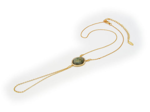 Labradorite Hand Chain - Fronay Collection