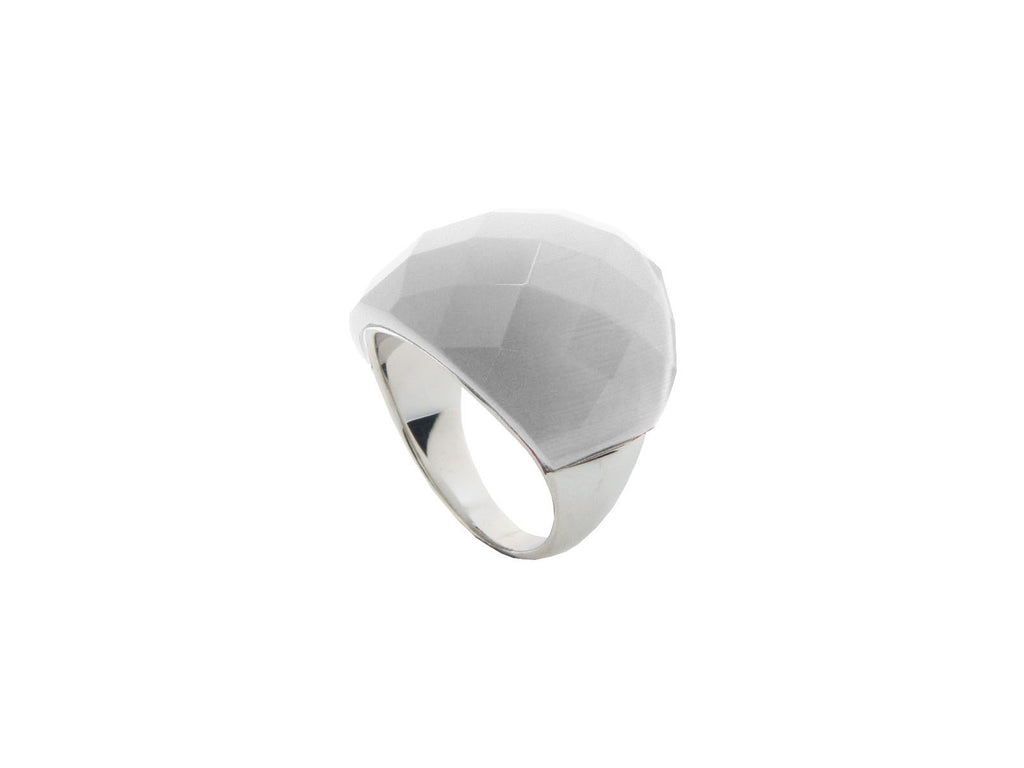 Gray Cat Eye Statement Ring | Sterling Silver by Fronay Collection