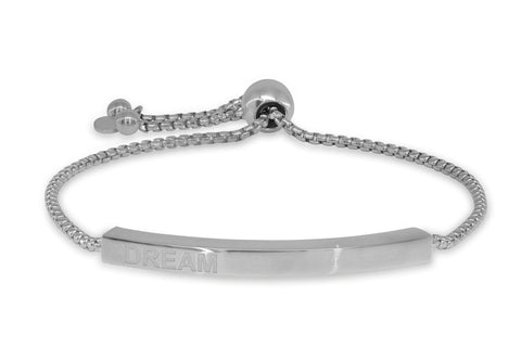 Engravable Dream Bar Bracelet, Adjustable