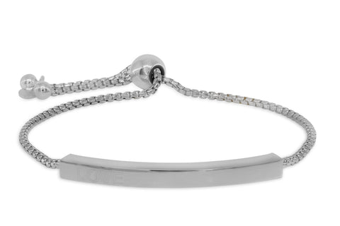 Engravable Love Bar Bracelet, Adjustable