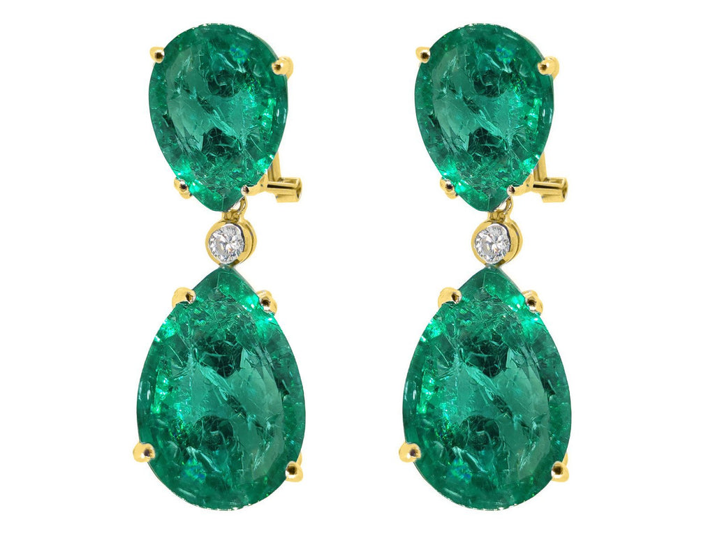 Fronay Emerald Crystal Drop Earrings