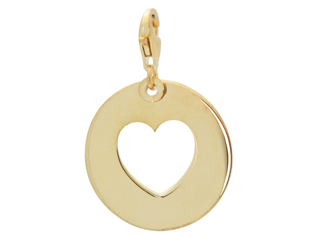 Gold Heart Cutout Pendant