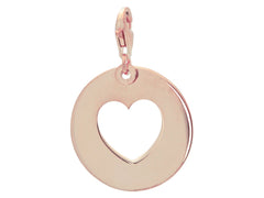 Fronay Collection Rose Heart Cutout Pendant: 925 Sterling Silver, Lobster Clasp