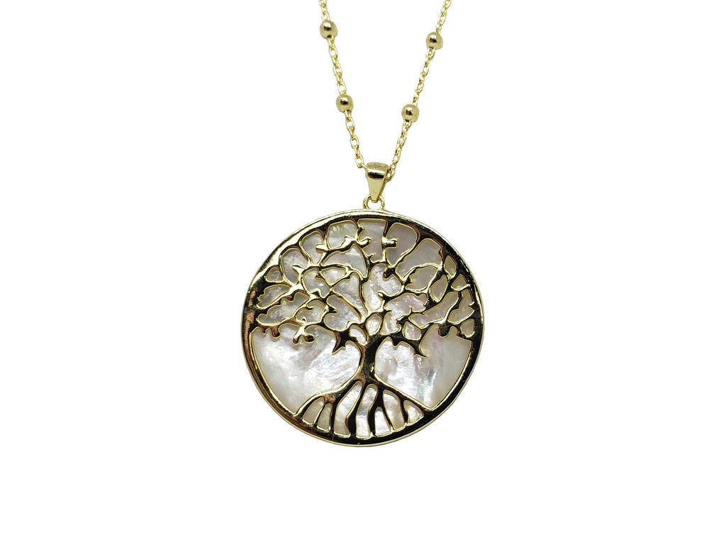 Mother of Pearl Tree of Life Necklace