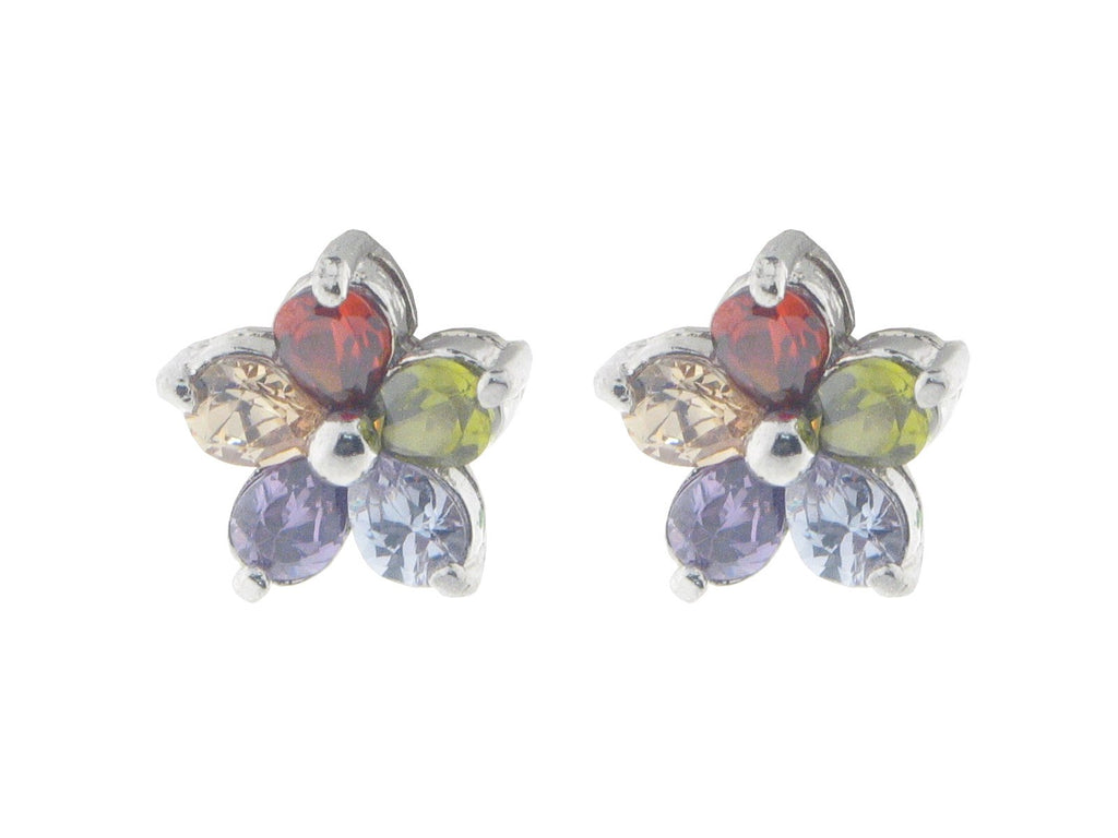 Canary Flower Studs: 925 Sterling Silver
