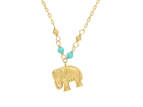 Lucky Golden Elephant Necklace