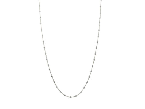 925 Sterling Silver CZ by the Yard Necklace, Length: 40""