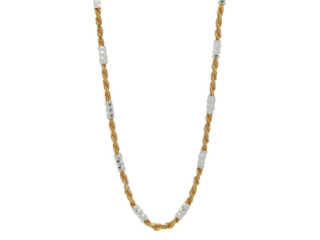 Golden Italian Rope Chain Necklace , 40""