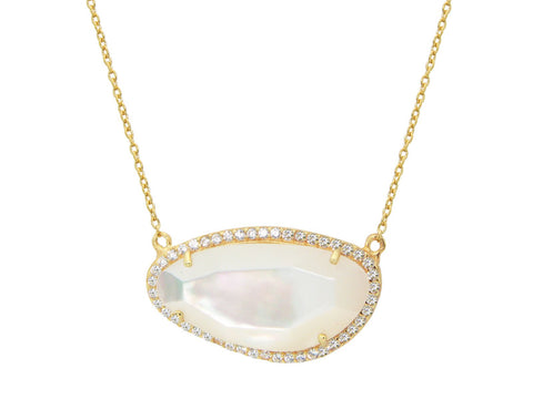 Mother of Pearl Slice Necklace