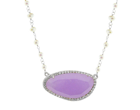 Signature Ella Purple Quartz & Pearls Necklace