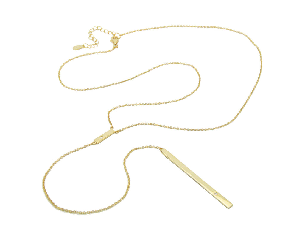 Tiered Dotted Bars Necklace - Fronay Collection