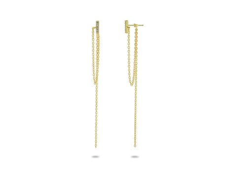 Dangling Flashbar Studs - Fronay Collection