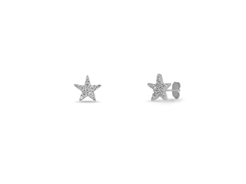 Silver Lone Star Stud Earrings (7mm)