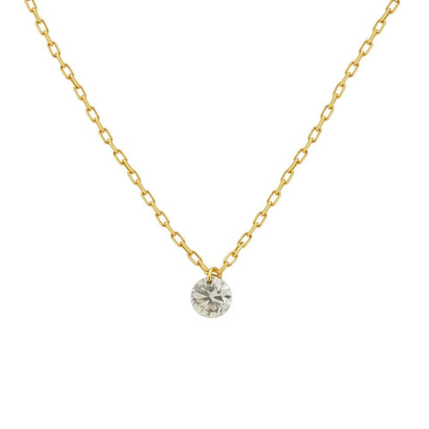 14k Gold Nude Diamond Necklace