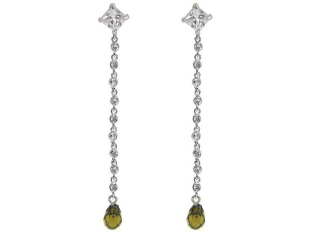 SoCal Emerald CZ Briolette Earrings