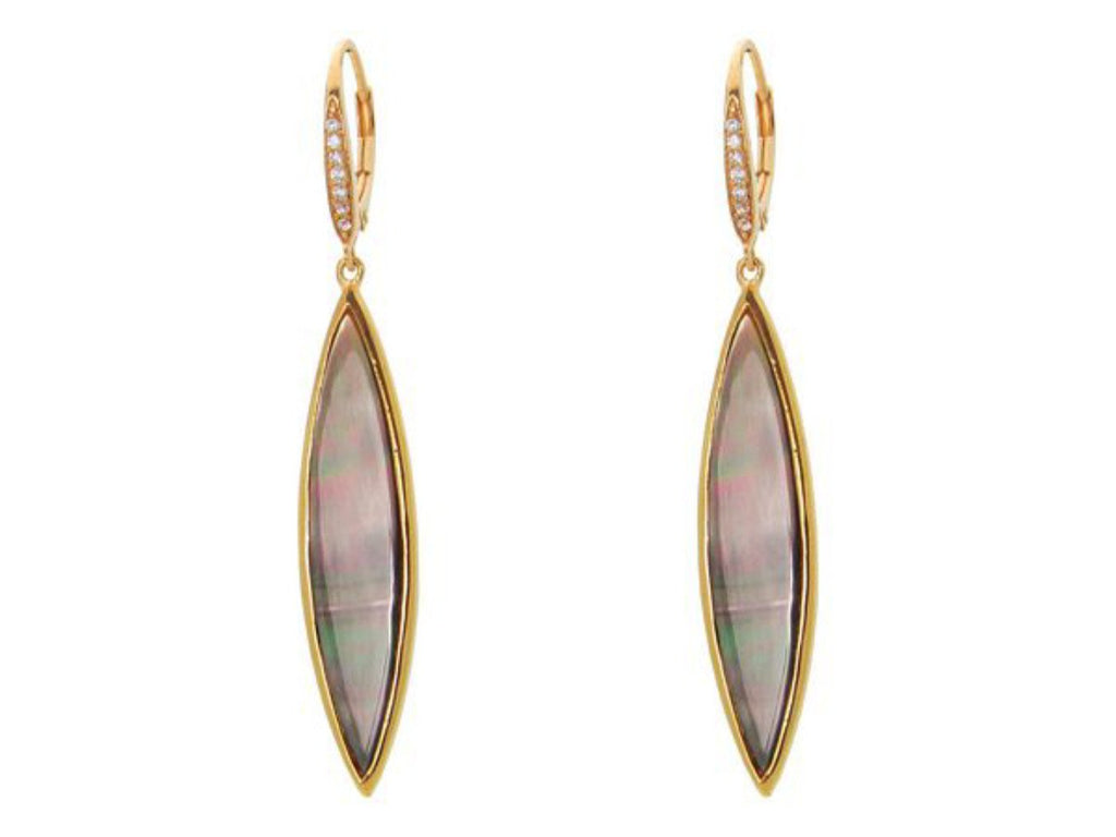 Gala Drop Mother of Pearl Almond Earrings