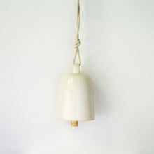 Large Handmade Ceramic Bell in White