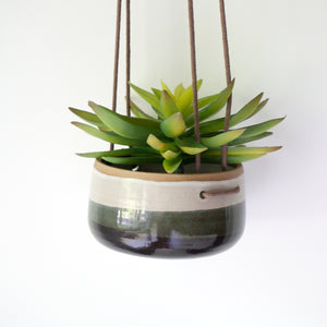 Hanging Planter in Black and White