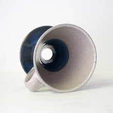 Ceramic Pour-Over Coffee Dripper in Speckled Blue and White