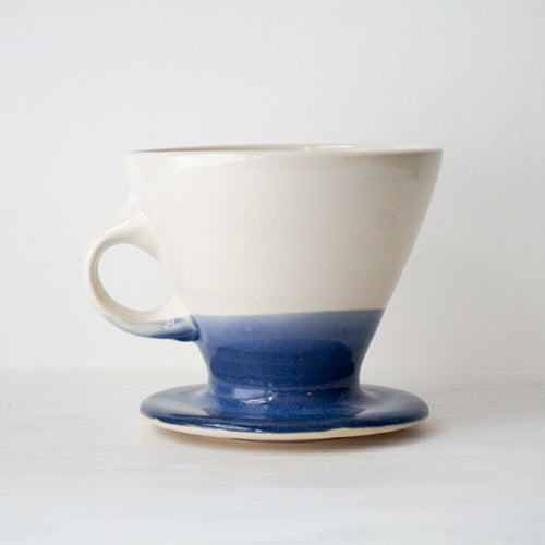Ceramic Pour Over Coffee Dripper in Blue and White