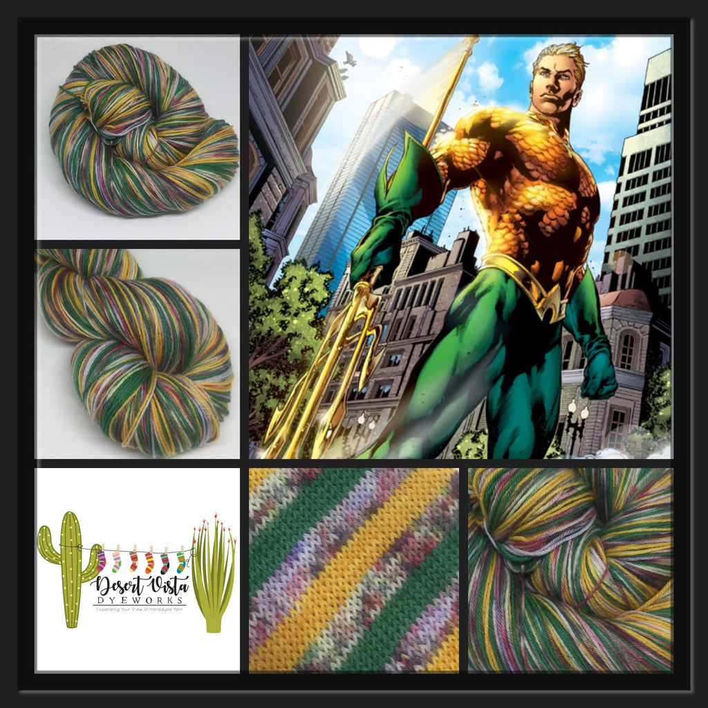 Aqua Zombody Man Four Stripe Self Striping Yarn