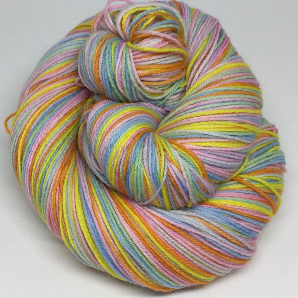 Spring Rainbow Six Stripe Self Striping Yarn