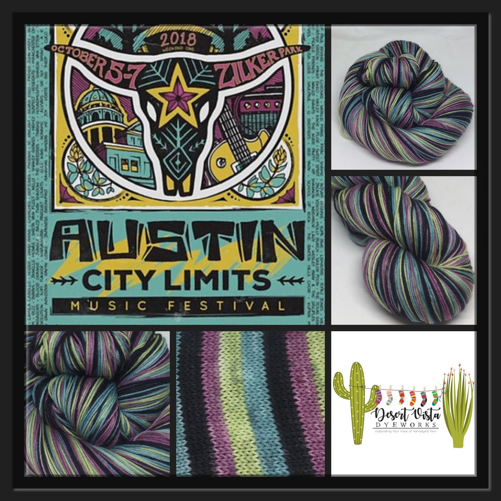 Austin City Limits Four Stripe Self Striping Yarn