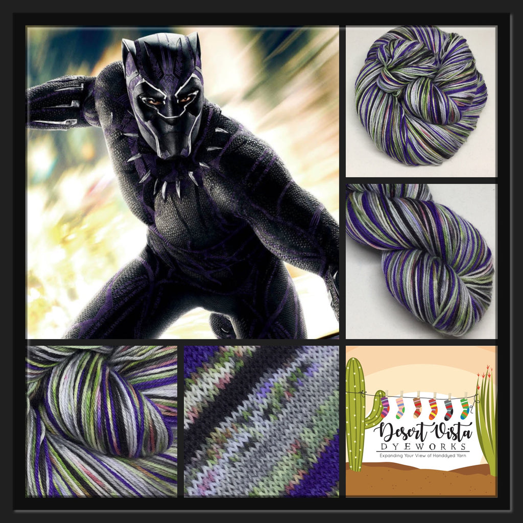 ZomBody Panther Six  Stripe Self Striping Yarn
