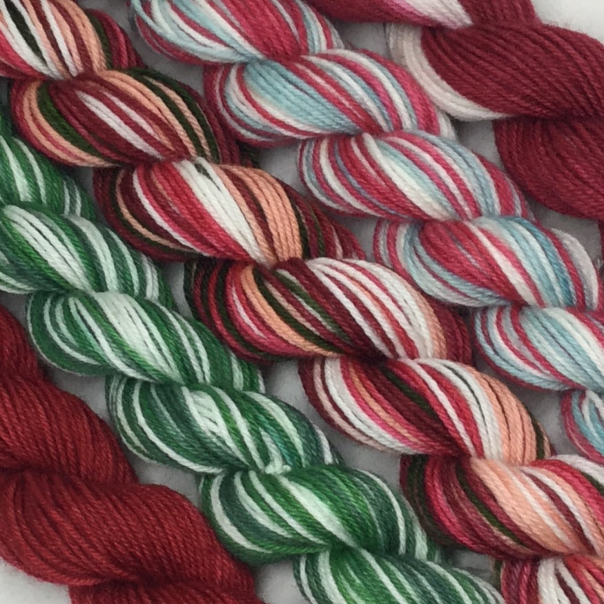 Holiday Cups Mini Skeins for Toes and Heel Set Approx. 500 yards