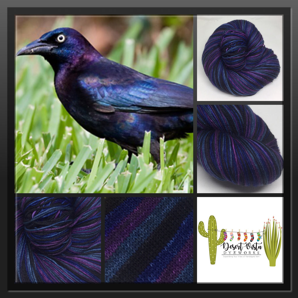Grackle Four Stripe Self Striping Yarn