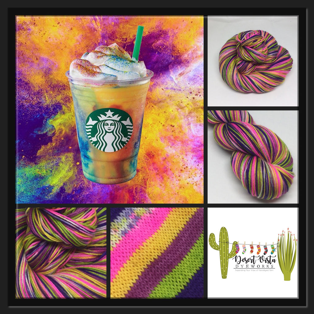 Tie Dye Frap Six Stripe Self Striping Yarn