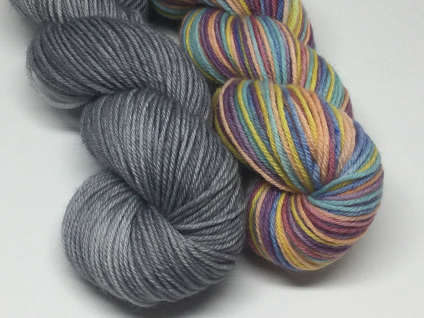 Winter Rainbow Six Stripe Self Striping Yarn Half Skeins Set