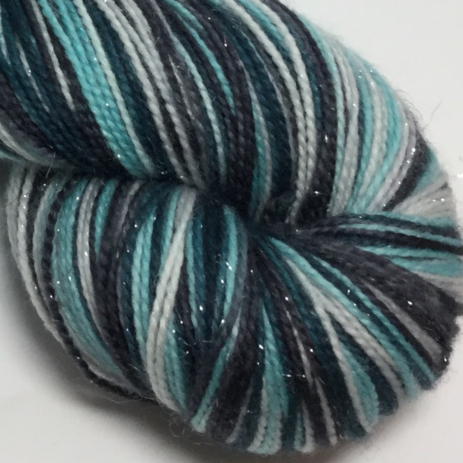Hubbard Glacier Four Stripe Self Striping Sock Yarn