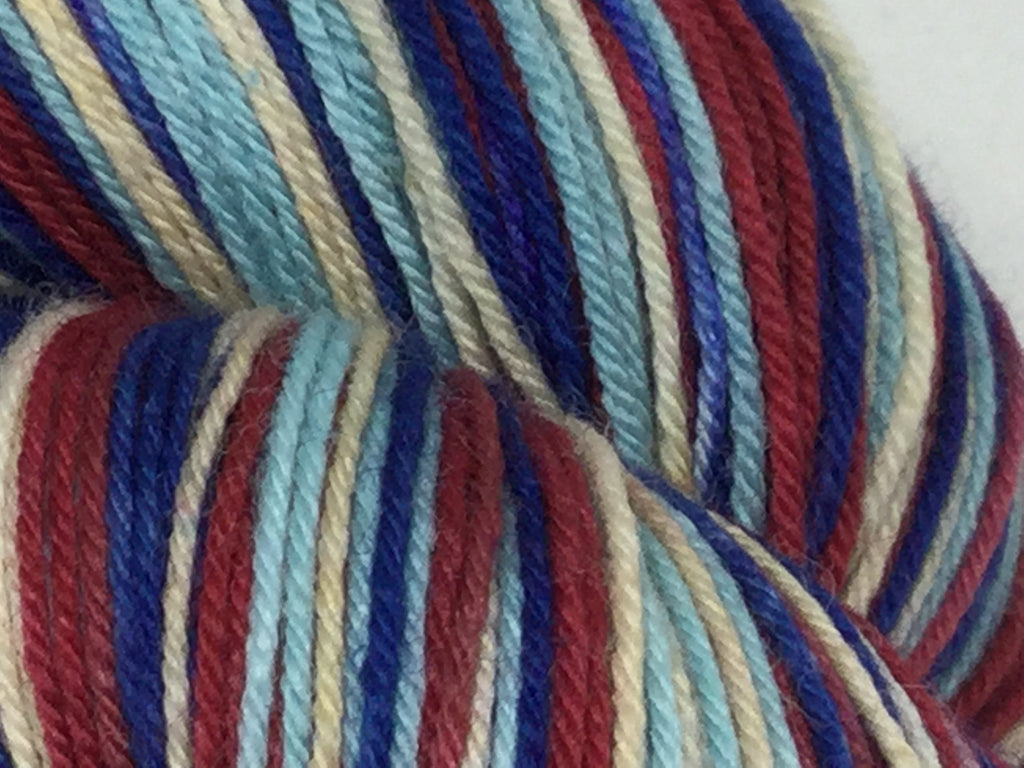 Maine Lobster Four Stripe Self Striping Yarn