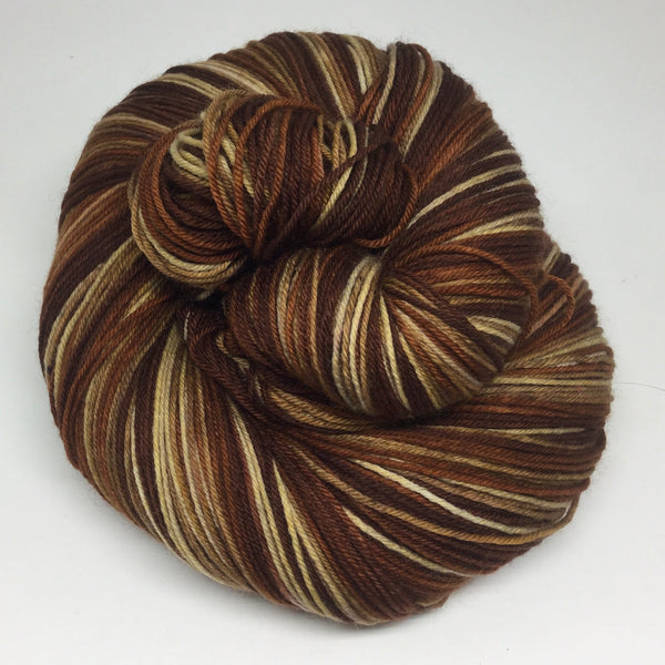 Coffee - All Day Five Stripe Self Striping Yarn