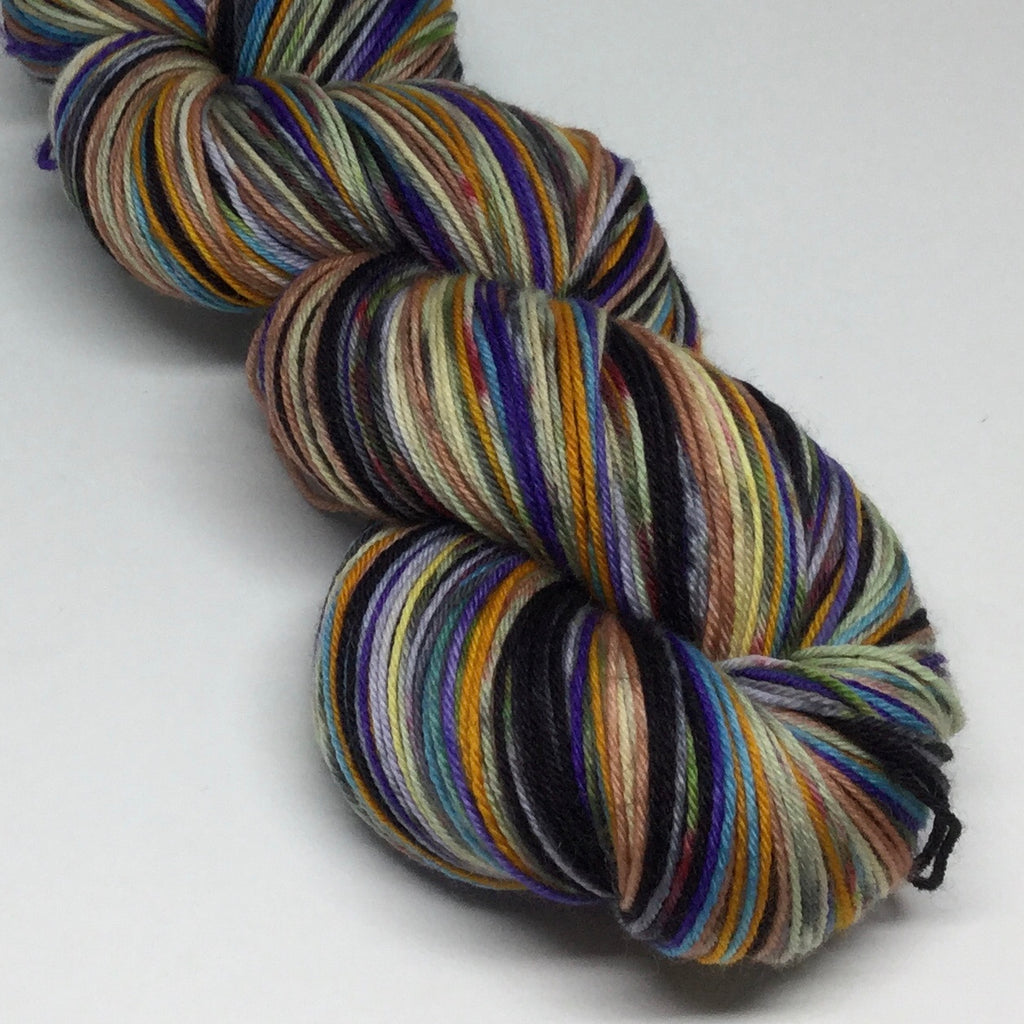 Roadrunner and ZomBody Coyote Eight Stripe Self Striping Yarn