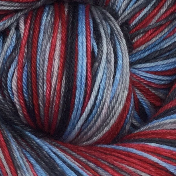 Jaws Four Stripe Self Striping Sock Yarn