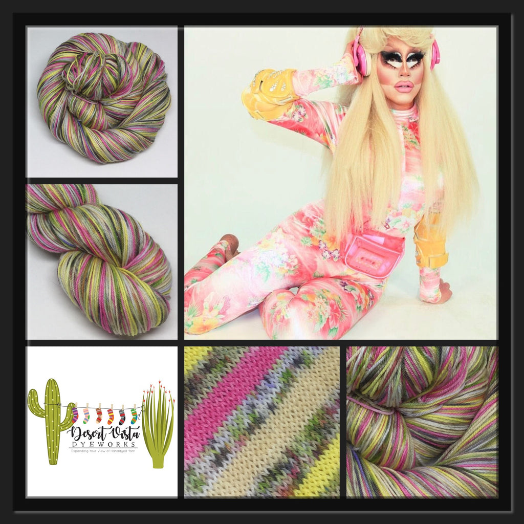 Trixie ZomBody Mattel Six Stripe Self Striping Yarn